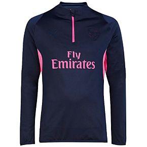 Arsenal ftblNxt 1/4 Zip L/S Training Top 2018 / 2019 - Navy/Pink