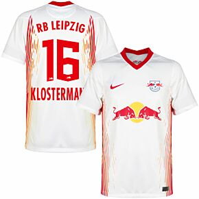 20-21 RB Leipzig Home Shirt + Klostermann 16 (Official Printing)