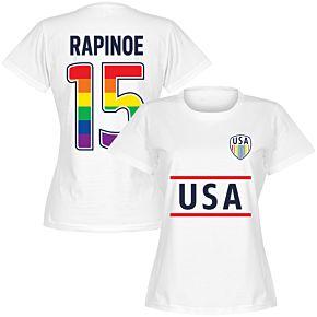 USA Rapinoe 15 Team Pride Tee - White
