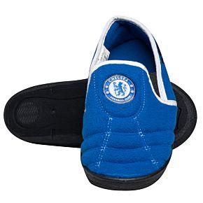 Chelsea 'Goal' Heel KIDS Slippers - Royal/White