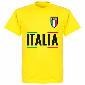 Italy Team T-shirt - Lemon Yellow