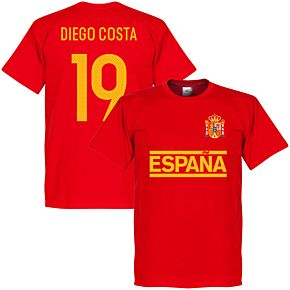 Spain Diego Costa Team Tee - Red