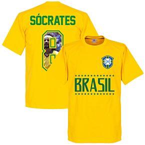 Brazil Socrates 8 Gallery Team Tee - Yellow