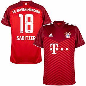 21-22 FC Bayern Munich Home Shirt + Sabitzer 18 (Official Printing)