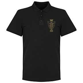 Liverpool 2020 League Champions Trophy Polo Shirt - Black