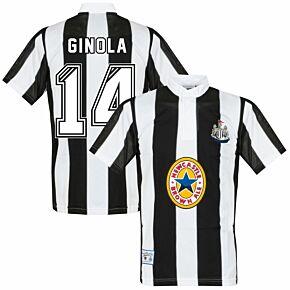 1996 Newcastle United Home Retro Shirt + Ginola 14