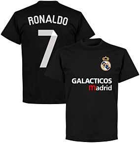 Galácticos Madrid Ronaldo 7 Team T-shirt - Black