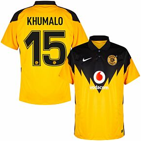 20-21 Kaizer Chiefs Home Shirt +  Khumalo 15 (Fan Style Printing)