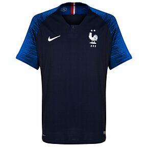 2018 France Home Vapor Match Shirt (2 Stars)