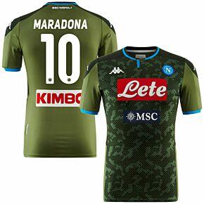 19-20 Napoli Away Authentic Shirt (Skin Fit) Maradona 10 (Fan Style)