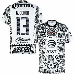 20-21 Club America 3rd Shirt + G.Ochoa 13 (Fan Style Printing)