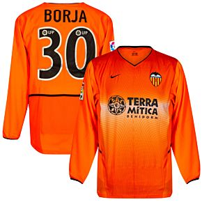 Nike Valencia CF 2002-2003 Away Jersey L/S - NEW Condition (w/tags) - Player Issue - BORJA #30 - Size Large