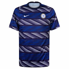 20-21 Chelsea Breath Pre-Match Top - Blue/Grey