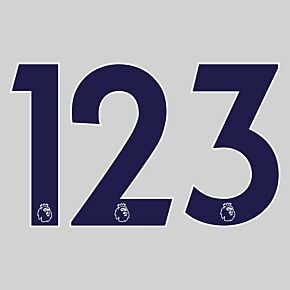 20-21 Premier League Official Adult Player Numbers - Navy (230mm)