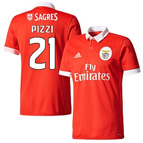 Benfica Home Pizzi Jersey 2017 / 2018 (Fan Style Printing)