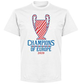 Bayern 2020 Champions of Europe KIDS T-shirt - White