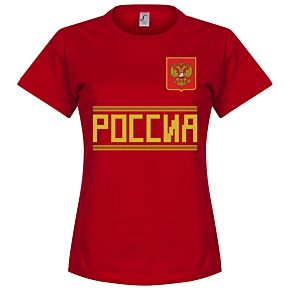 Russia Team Womens Tee - Red