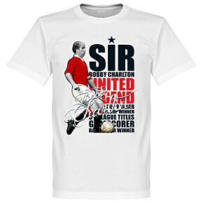 Sir Bobby Charlton Legend Tee - White
