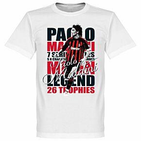 Paolo Maldini Legend Tee - White