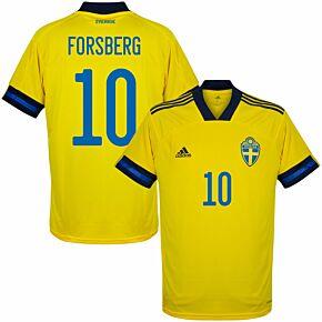 20-21 Sweden Home Shirt + Forsberg 10