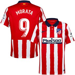 20-21 Atletico Madrid Home Shirt + Morata 9