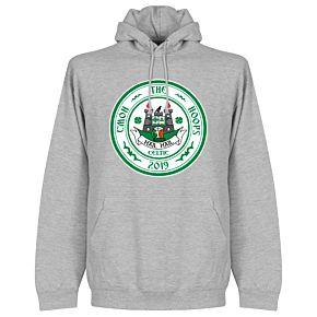 C'mon the Hoops Celtic Crest Hoodie - Grey