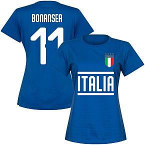 Italy Team Womens Bonansea 11 Tee - Royal