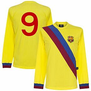 74-75 Barcelona Away L/S Retro Shirt + No. 9
