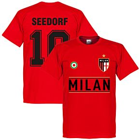 Milan Seedorf 10 Team Tee - Red