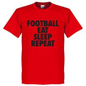 Football Addiction Tee - Red/Black