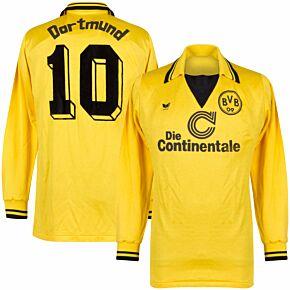 Erima x adidas Borussia Dortmund 1987 Retro Home Shirt L/S - Used Condition (Great) - Number 10 - Size L