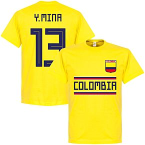 Colombia Y. Mina 13 Team Tee - Yellow