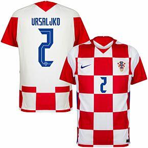 20-21 Croatia Home Shirt + Vrsajlko 2 (Official Printing)