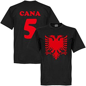 Albania Eagle Cana 5 Tee - Black