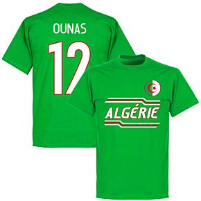 Algeria Ounas 12 Team T-Shirt - Green