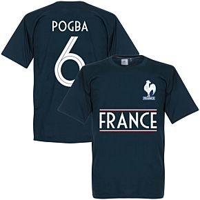 France Pogba 6 Team Tee - Navy