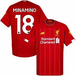 19-20 Liverpool Home Shirt + Minamino 18