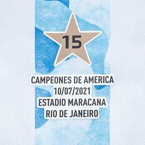 2021 Argentina Copa America 15 Campeones Transfer (Replica)