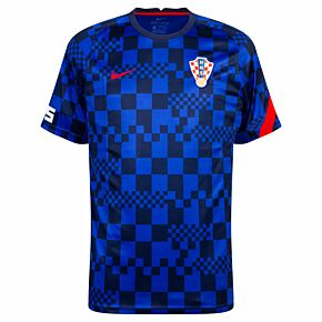 20-21 Croatia Breathe PreMatch S/S Top - Blue/Red