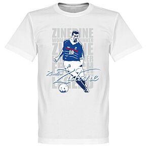 Zinedine Zidane Legend KIDS Tee - White