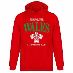 Wales KIDS Rugby Hoodie - Red