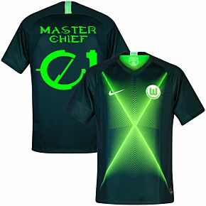 Nike VFL Wolfsburg Home Master Chief 01 Jersey 2019-2020 (Halo Fan Style Printing)