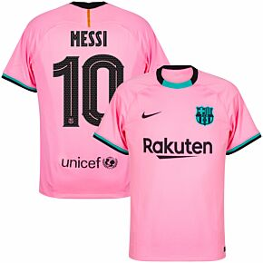 20-21 Barcelona 3rd Shirt + Messi 10 (Official Cup Printing)