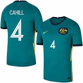 20-21 Australia Away Shirt + Cahill 4 (Fan Style)