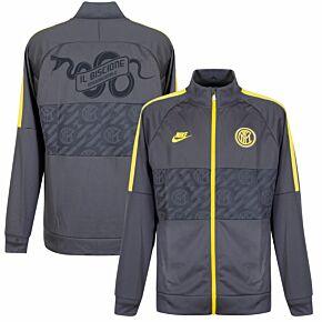 19-20 Inter Milan I96 Jacket -Grey + Biscione Snake Print