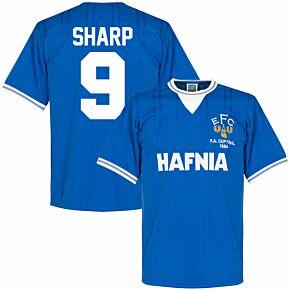 1984 Everton Home FA Cup Final Retro Shirt + Sharp 9