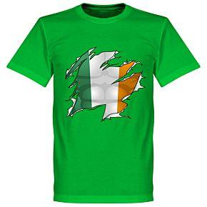 Ireland Ripped Flag KIDS Tee - Green