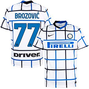 20-21 Inter Milan Away Shirt + Brozovic 77 (Official Printing)
