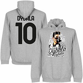 Dybala 10 Celebration Hoodie - Grey Heather
