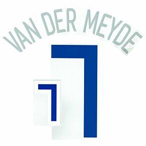 Van der Meyde 7 - 06-07 Holland Away Official Name and Number Transfer